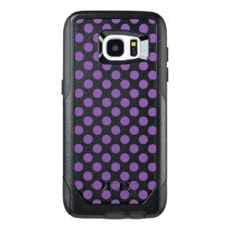 Funda OtterBox Para Samsung Galaxy S7 Edge Lunares púrpuras