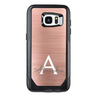 Funda OtterBox Para Samsung Galaxy S7 Edge Monograma color de rosa rosado del acero