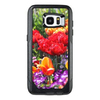 Funda OtterBox Para Samsung Galaxy S7 Edge Ondas florales del carmesí de Falln