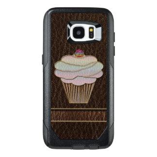 Funda OtterBox Para Samsung Galaxy S7 Edge Oscuridad que cuece de la Cuero-Mirada