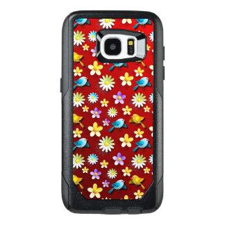 Funda OtterBox Para Samsung Galaxy S7 Edge Pájaros y flores de la primavera roja