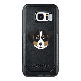 Funda OtterBox Para Samsung Galaxy S7 Edge Perro de montaña de Bernese del ilustracion