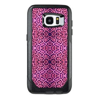 Funda OtterBox Para Samsung Galaxy S7 Edge Piel rosada y púrpura de Jaguar