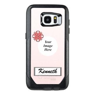 Funda OtterBox Para Samsung Galaxy S7 Edge Plantilla rosada de la cinta del trébol de Kenneth