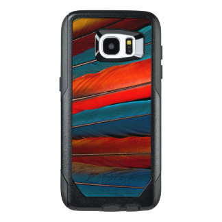 Funda OtterBox Para Samsung Galaxy S7 Edge Plumas de cola del Macaw del escarlata