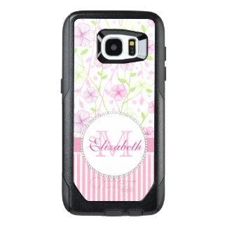 Funda OtterBox Para Samsung Galaxy S7 Edge Rayas del rosa en colores pastel, de la púrpura,