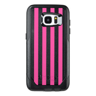 Funda OtterBox Para Samsung Galaxy S7 Edge Rayas verticales rosadas