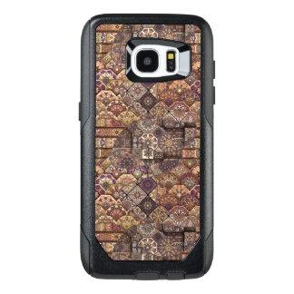 Funda OtterBox Para Samsung Galaxy S7 Edge Remiendo del vintage con los elementos florales de