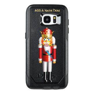 Funda OtterBox Para Samsung Galaxy S7 Edge Rey divertido del cascanueces de Navidad
