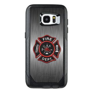 Funda OtterBox Para Samsung Galaxy S7 Edge Rojo del emblema del bombero