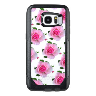 Funda OtterBox Para Samsung Galaxy S7 Edge Rosas rosados blancos