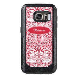 Funda Otterbox Para Samsung Galaxy S7 El modelo rojo Morris del conejo personalizó el