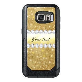 Funda Otterbox Para Samsung Galaxy S7 Estrellas chispeantes y diamantes del oro elegante