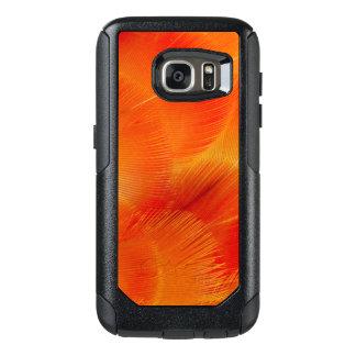 Funda Otterbox Para Samsung Galaxy S7 Extracto anaranjado de la pluma del Macaw de