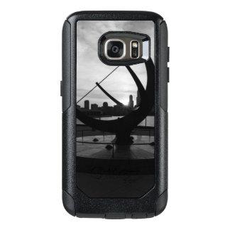 Funda Otterbox Para Samsung Galaxy S7 Grayscale de la puesta del sol del reloj de sol