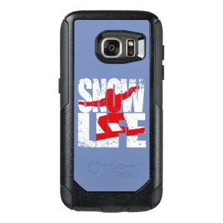 Funda Otterbox Para Samsung Galaxy S7 Huésped rojo de la VIDA de la NIEVE (blanco)