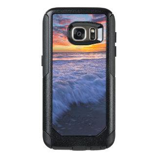 Funda Otterbox Para Samsung Galaxy S7 La playa que practica surf agita en la puesta del