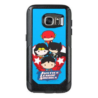 Funda Otterbox Para Samsung Galaxy S7 Liga de justicia de Chibi de las estrellas de
