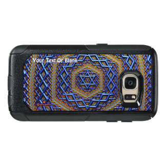 Funda Otterbox Para Samsung Galaxy S7 Magen David metálico adornado