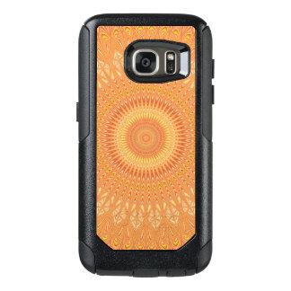 Funda Otterbox Para Samsung Galaxy S7 Mandala anaranjada
