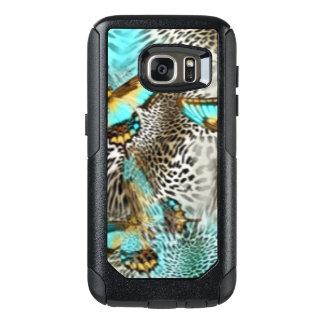 Funda Otterbox Para Samsung Galaxy S7 Mariposas del estampado leopardo y del trullo