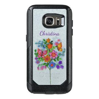 Funda Otterbox Para Samsung Galaxy S7 Mariposas en ramo colorido de la flor en tronco