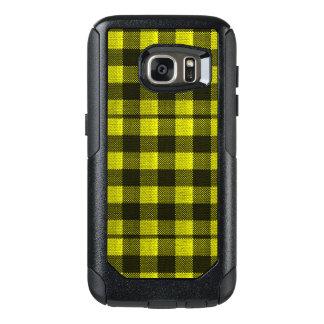 Funda Otterbox Para Samsung Galaxy S7 Mirada a cuadros de la arpillera del modelo de la