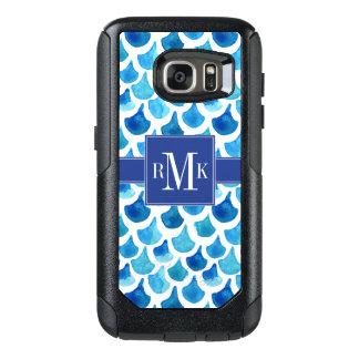 Funda Otterbox Para Samsung Galaxy S7 Modelo azul de la escala de la acuarela