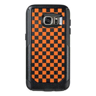 Funda Otterbox Para Samsung Galaxy S7 Tablero de damas anaranjado