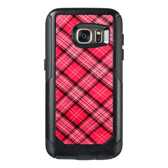 Funda Otterbox Para Samsung Galaxy S7 Tela escocesa él rosa