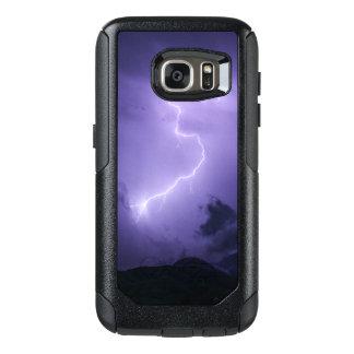 Funda Otterbox Para Samsung Galaxy S7 Tempestad de truenos púrpura en la noche