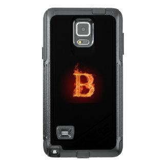 Funda OtterBox Para Samsung Note 4 Caja del teléfono del ob del alfabeto B