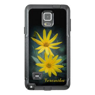 Funda OtterBox Para Samsung Note 4 Dos flores amarillas de alcachofa de Jerusalén