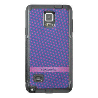 Funda OtterBox Para Samsung Note 4 Estrellas del rosa en un fondo azul