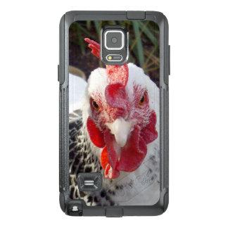 Funda OtterBox Para Samsung Note 4 Gallo blanco con los puntos negros,
