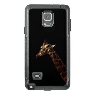 Funda OtterBox Para Samsung Note 4 Jirafa a solas en negro,