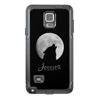 Funda OtterBox Para Samsung Note 4 Lobo que grita en la Luna Llena, su nombre