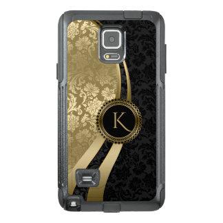 Funda OtterBox Para Samsung Note 4 Negro del diseño geométrico de Monogramed y