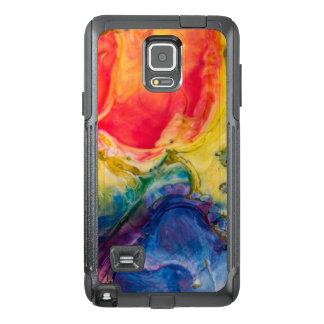 Funda OtterBox Para Samsung Note 4 Pintura abstracta azul amarilla roja