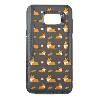 Funda OtterBox Para Samsung Note 5 Caso de Otterbox del pan del pan del Corgi