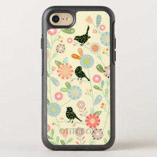 Funda OtterBox Symmetry Para iPhone 8/7 3 pájaros en iPhone lindo de las flores 7 series