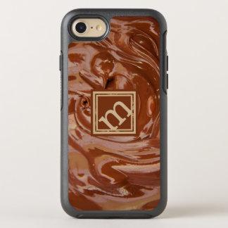 Funda OtterBox Symmetry Para iPhone 8/7 Amante del chocolate - monograma anguloso