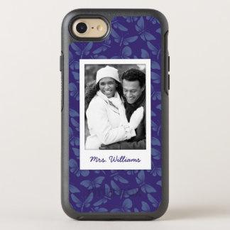 Funda OtterBox Symmetry Para iPhone 8/7 Añada sus mariposas de la púrpura de la foto el |