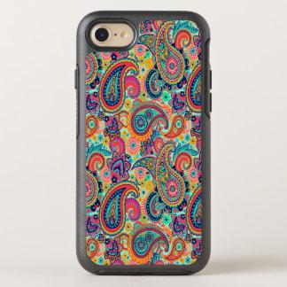 Funda OtterBox Symmetry Para iPhone 8/7 Arco iris brillante Paisley