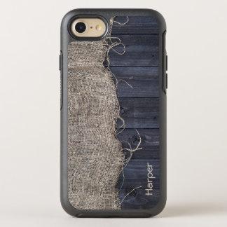 Funda OtterBox Symmetry Para iPhone 8/7 Arpillera y madera rústicas del granero con su