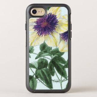 Funda OtterBox Symmetry Para iPhone 8/7 Arte de la flor del Clematis