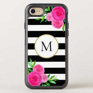 Funda OtterBox Symmetry Para iPhone 8/7 Blanco floral rosado femenino del negro del