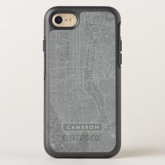 Funda OtterBox Symmetry Para iPhone 8/7 Bosquejo del mapa de New York City