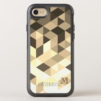 Funda OtterBox Symmetry Para iPhone 8/7 Brown y formas geométricas de la sepia