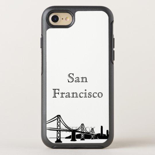 Funda OtterBox Symmetry Para iPhone 8/7 Caja de la silueta del horizonte de San Francisco